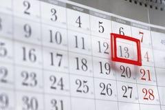 Hoja de un calendario de pared Fotos de archivo