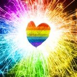 Hoja del amor Foto de archivo libre de regalías