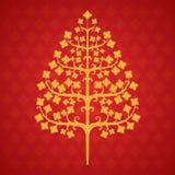 Hoja del bodhi del árbol Imagen de archivo libre de regalías