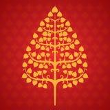 Hoja del bodhi del árbol Imagen de archivo