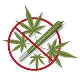 Hoja del cáñamo marijuana Bandera de Bob Marley Logotipo médico del cáñamo Legalice el símbolo ilustración del vector