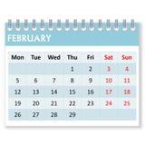 Hoja del calendario para febrero libre illustration