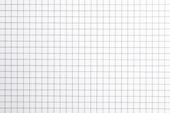 Hoja del cuaderno con textura de la rejilla como fondo imagen de archivo libre de regalías