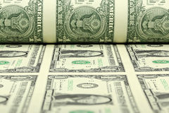Hoja del dólar de EE. UU. Imagen de archivo libre de regalías