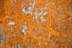 Hoja del hierro con moho Foto de archivo libre de regalías