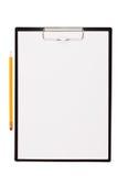 Hoja del Libro Blanco montada en la tableta Foto de archivo libre de regalías
