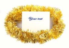 Hoja del mensaje de la decoración de la Navidad Fotografía de archivo libre de regalías
