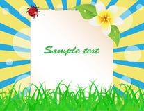Hoja del papel adornada con las plantas stock de ilustración