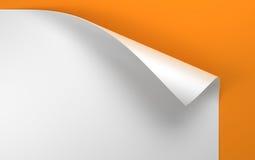 Hoja del papel con la esquina encrespada ilustración del vector