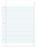 Hoja del papel del cuaderno stock de ilustración