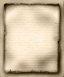 Hoja del papel gobernado viejo Foto de archivo libre de regalías