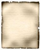 Hoja del papel gobernado viejo Imágenes de archivo libres de regalías