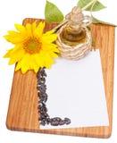 Hoja del papel para el expediente de recetas Imagen de archivo libre de regalías