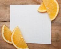 Hoja del papel para las notas Fotos de archivo libres de regalías