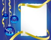 hoja del papel y de las decoraciones de la Navidad ilustración del vector