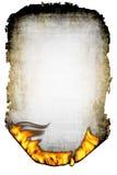 Hoja del papel y del fuego chamuscados Imagenes de archivo