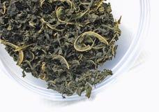 Hoja del té y de las mercancías Imagen de archivo libre de regalías