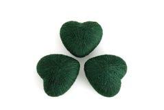 hoja del trébol de 3 hojas formada por los ovillos verdes Imagen de archivo libre de regalías