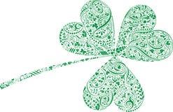 Hoja del trébol del día del St. Patrick Fotografía de archivo libre de regalías