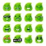 Hoja divertida Emojis Foto de archivo libre de regalías
