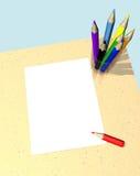 Hoja en blanco stock de ilustración