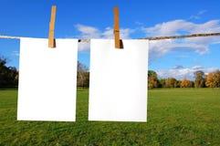 Hoja en blanco del papel Fotos de archivo libres de regalías