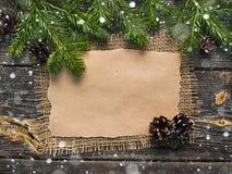 Hoja en blanco para los saludos del Año Nuevo Fotografía de archivo libre de regalías