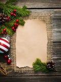 Hoja en blanco para los saludos del Año Nuevo Fotografía de archivo