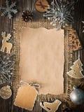 Hoja en blanco para los saludos del Año Nuevo Foto de archivo