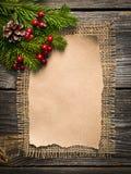 Hoja en blanco para los saludos del Año Nuevo Fotos de archivo libres de regalías