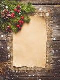 Hoja en blanco para los saludos del Año Nuevo Imágenes de archivo libres de regalías