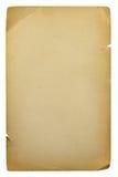 Hoja en blanco vieja del papel Imagen de archivo libre de regalías