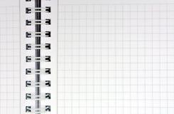 Hoja en una jaula con un espiral Imagenes de archivo
