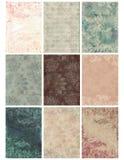 Hoja floral del collage del damasco de la vendimia Imagen de archivo