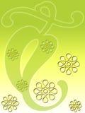 Hoja floral verde Foto de archivo libre de regalías