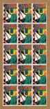 Hoja grande de los sellos de británicos Royal Mail que representan los juguetes de los niños Fotos de archivo libres de regalías