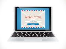 Hoja informativa - márketing del email Fotos de archivo libres de regalías