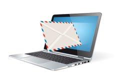 Hoja informativa - márketing del email Fotografía de archivo