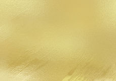 Hoja metálica del oro brillante Fotografía de archivo