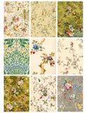 Hoja o etiquetas floral del collage de la vendimia Fotos de archivo libres de regalías