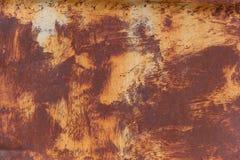 Hoja oxidada del hierro Imagen de archivo libre de regalías
