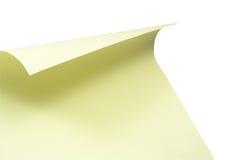 Hoja parecida al papel en blanco foto de archivo
