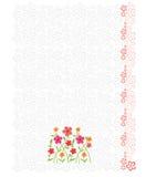 Hoja principal de la carta con el fondo floral Fotografía de archivo libre de regalías
