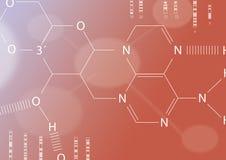 Hoja química Foto de archivo libre de regalías