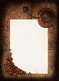 Hoja quemada vieja con una amoladora de café Fotografía de archivo