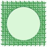 Hoja tejida del coco con el fondo redondo del vector del verde del marco libre illustration