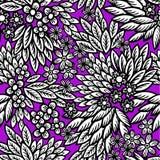 Hoja tribal floral Imagen de archivo