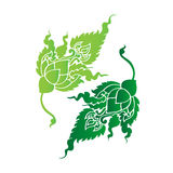 Hoja verde adornada Imagenes de archivo