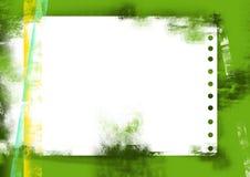 Hoja verde de Grunge del papel Imagen de archivo