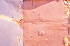 Hoja vieja del hierro oxidado Fotos de archivo